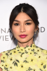 Gemma Chan wore her hair in a mildly messy bun at the National Board of Review Awards Gala.