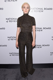 Saoirse Ronan looked cool in her matchy-matchy Emilia Wickstead wide-leg pants and turtleneck combo.