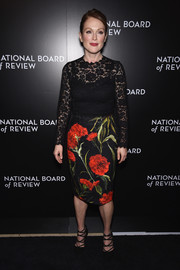 Julianne Moore was all abloom in Dolce & Gabbana flowers and lace at the National Board of Review Gala.
