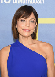 Bethenny Frankel wore her hair in a cute bob with side-swept bangs during the new season premiere of 'Years of Living Dangerously.'