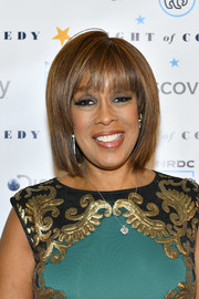 Gayle King sported a neat bob with wispy bangs at the 'Night of Comedy' benefit.