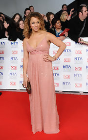 Angela Griffin sparkled in a blush evening dress at the National Television Awards.