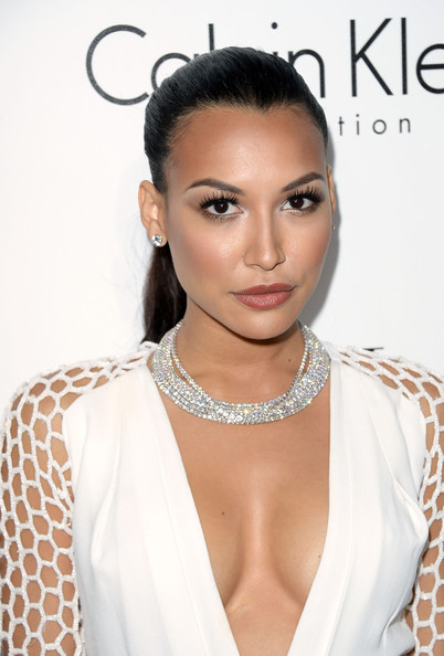 Naya Rivera Ponytail [hair,face,eyebrow,hairstyle,skin,lip,forehead,beauty,shoulder,black hair,naya rivera,20th annual women in hollywood celebration - arrivals,beverly hills,four seasons hotel,california,los angeles,elle,20th annual women in hollywood celebration]