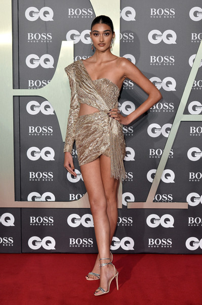 Neelam Gill Strappy Sandals [clothing,red carpet,dress,carpet,shoulder,cocktail dress,leg,joint,premiere,muscle,red carpet arrivals,neelam gill,gq men of the year awards,england,london,tate modern]