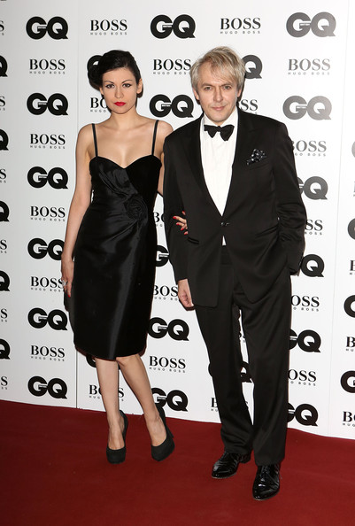 Nefer Suvio Platform Pumps [clothing,dress,carpet,formal wear,suit,red carpet,little black dress,tuxedo,premiere,event,red carpet arrivals,nick rhodes,nefer suvio,gq men of the year awards,awards,england,london,the royal opera house,gq men of the year]