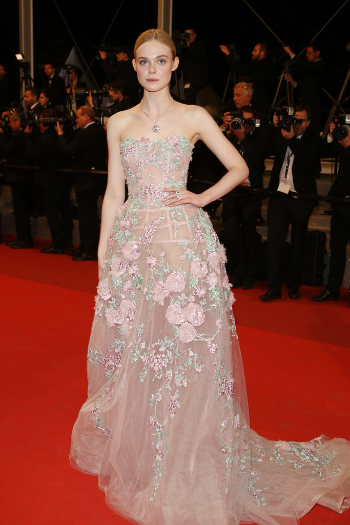 Elle Fanning In Zuhair Murad At The Cannes Film Festival