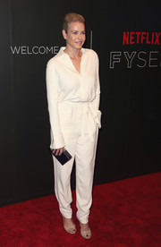 Chelsea Handler looked cool in a slouchy white jumpsuit at the Netflix FYSEE kickoff event.