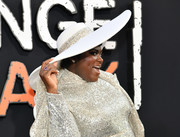 Danielle Brooks arrived for the premiere of 'Orange is the New Black' season 7 wearing a white wide-brimmed hat by Sarah Sokol Millinery.