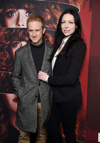 More Pics of Laura Prepon Blazer (1 of 4) - Outerwear Lookbook - StyleBistro [russian doll,season,fashion,event,fun,premiere,photography,long hair,style,fashion design,ben foster,laura prepon,new york city,netflix,metrograph,premiere]