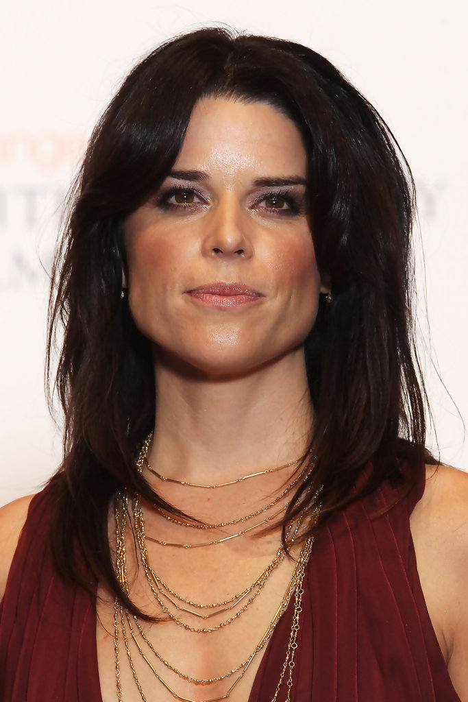 Neve Campbell Long Straight Cut Neve Campbell Looks