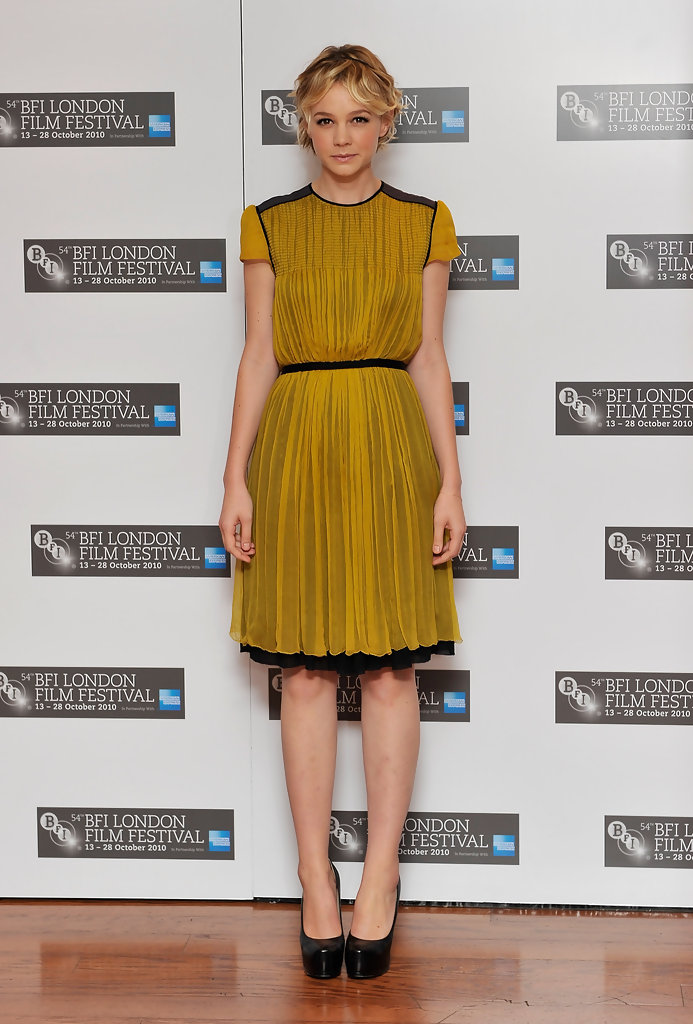 "Actress Carey Mulligan attends the ""Never Let Me Go"" photocall during the 54th BFI London Film Festival at the Vue West End on October 13, 2010 in London, England."