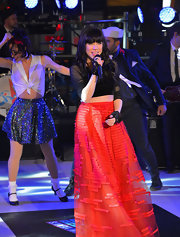 Guess what Carly Rae wore under her NYE 2013 skirt? A pair of long-johns! No really, she tweeted about it.