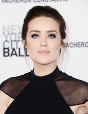 Megan Boone opted for a simple loose updo when she attended the New York City Ballet Spring Gala.