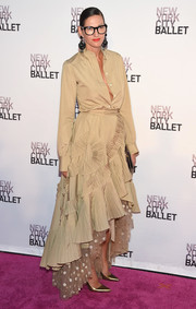 Jenna Lyons hit the New York City Ballet Fall Gala wearing a fresh-off-the-runway khaki button-down shirt by J.Crew.