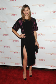 Katharine McPhee looked subtly sexy at the New York Pops 31st birthday gala in a two-tone Gucci dress with an up-to-there slit.