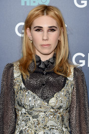 Zosia Mamet went casual with this flippy, center-parted 'do at the New York premiere of the final season of 'Girls.'