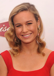 Brie Larson wore vintage-chic sculpted waves during the premiere of 'Begin Again.'