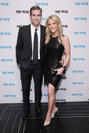 Megyn Kelly looked fierce in her leather LBD during the New York Times relaunch event.