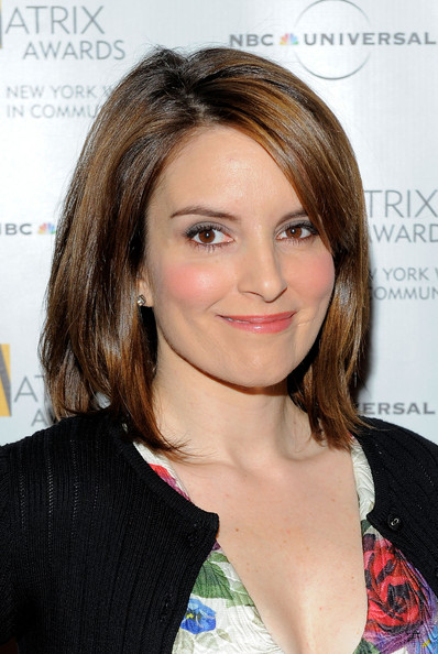 More Pics of Tina Fey Mid-Length Bob (1 of 23) - Tina Fey Lookbook - StyleBistro