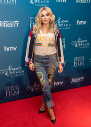 Tallia Storm looked funky in her Gucci dragon-embroidered jeans!