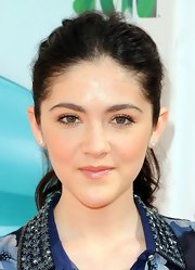 Isabelle Fuhrman attended the 2012 Kids' Choice Awards wearing a pair of aquamarine and diamond stud earrings.
