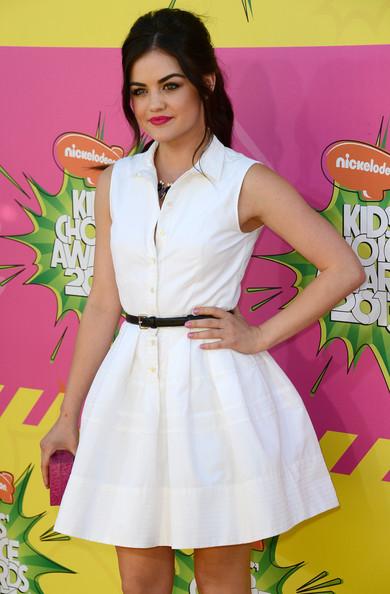 More Pics of Lucy Hale Shirtdress (1 of 12) - Lucy Hale Lookbook - StyleBistro