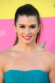 Danica Patrick kept her brown locks out of her face with this sleek and straight high ponytail.