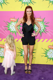 Challen Cates kept her look fun and relaxed on the purple carpet with these dress shorts.