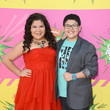 Rico Rodriguez and Raini Rodriguez at Nickelodeon's 26th Annual Kids' Choice Awards 2013