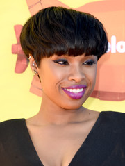 Jennifer Hudson attended the Kids' Choice Awards rocking a funky bowl cut.
