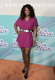 Serena Williams was right on trend in a vibrant dress for the Halo Awards.