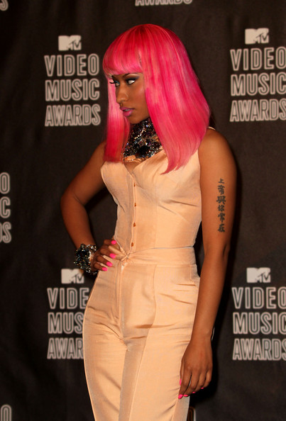 Nicki Minaj Lettering Tattoo