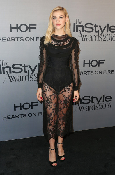 Nicola Peltz Peep Toe Pumps [fashion model,little black dress,catwalk,flooring,fashion,leg,shoulder,dress,fashion show,carpet,arrivals,nicola peltz,instyle awards,getty center,los angeles,california,annual instyle awards]