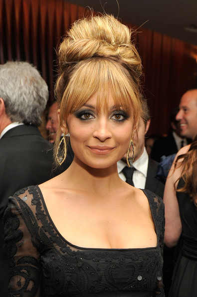 Nicole Richie Dangling Diamond Earrings
