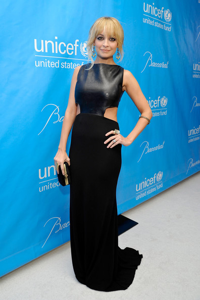 Nicole Richie Leather Dress