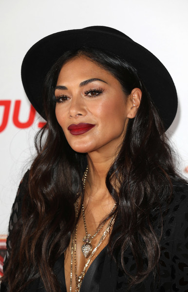 Nicole Scherzinger Porkpie Hat [the x factor,photo,hair,black hair,lip,eyebrow,hairstyle,hat,beauty,chin,long hair,lady,series,nicole scherzinger,england,london,picturehouse central,launch,red carpet press launch]