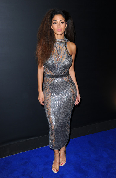 Nicole Scherzinger Form-Fitting Dress