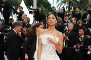 Nicole Scherzinger Strapless Dress