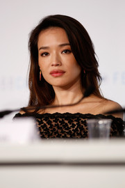 Shu Qi added a hint of red lipstick to her pout while attending the 68th Annual Cannes Film Festival.