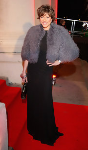 Kate Silverton arrived at the Night of Heroes event in an outfit reminiscent of Old Hollywood opulence.