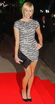 Flashing those lengthy limbs as per usual, Jenni Falconer rocked another super-sexy mini dress at the Night of Heroes ceremony in London.