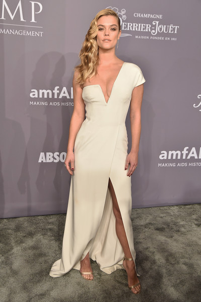 Nina Agdal One Shoulder Dress