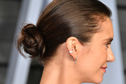 Nina Dobrev Twisted Bun