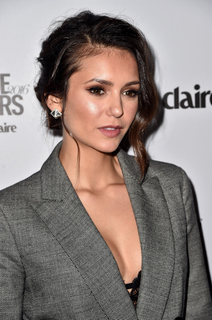 Nina dobrev updos messy updo ieqnnsob for Mariah carey jewelry line claire s
