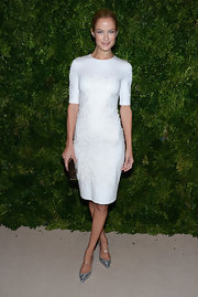 Carolyn looked white hot in this textured LWD at the CFDA Awards.