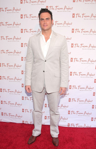 Cheyenne Jackson's snazzy pale gray suit was an eye-catching choice for the Trevor New York Summer Gala.