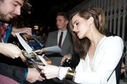 An elegant gold cuff bracelet provided a super-chic finish to Emma Watson's outfit at the 'Noah' Madrid premiere.