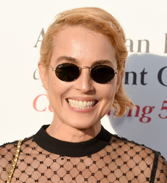 Noomi Rapace Short Side Part [american friends of covent garden 50th anniversary celebration - arrivals,eyewear,hair,sunglasses,face,glasses,eyebrow,hairstyle,lip,blond,chin,jean-georges beverly hills,california,noomi rapace]