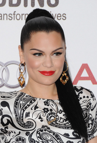 More Pics of Jessie J Loose Ponytail (1 of 9) - Jessie J Lookbook - StyleBistro