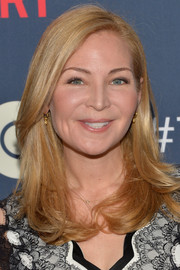 Jennifer Westfeldt wore her hair down with a side part and feathered ends during the premiere of 'The Normal Heart.'